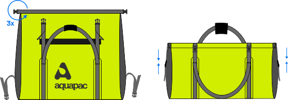 así se cierre el macuto 100% estanca de pvc | TrailProof | 723 | 70 litros