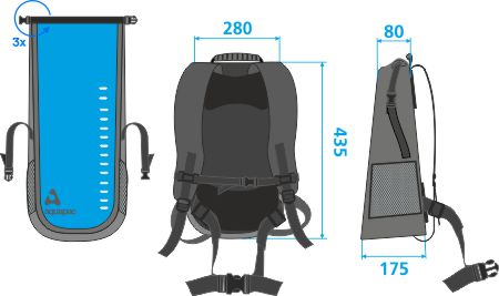 791 medidas mochila vinilo Toccoa 28 litros azul